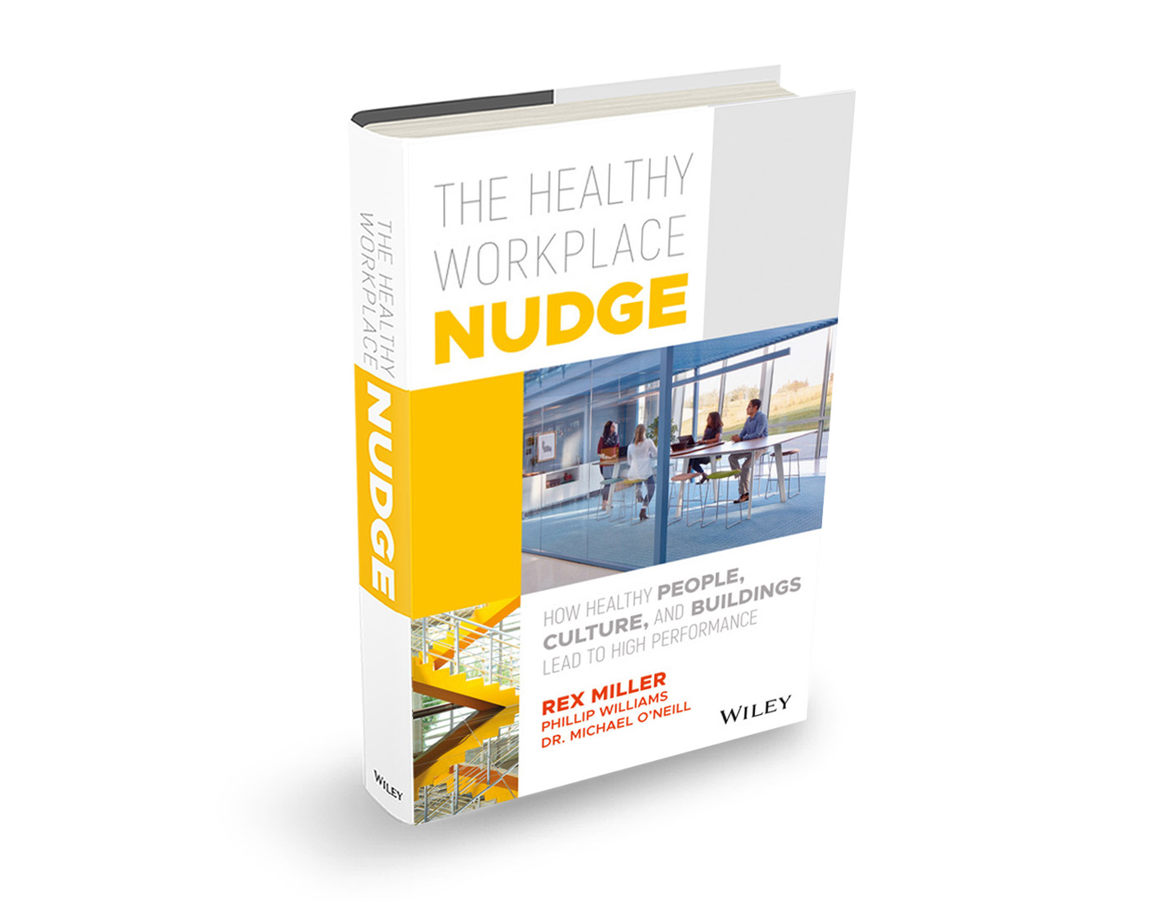 The Healthy Workplace Nudge book discussed in a talk Dezeen hosted with Haworth in Chicago.