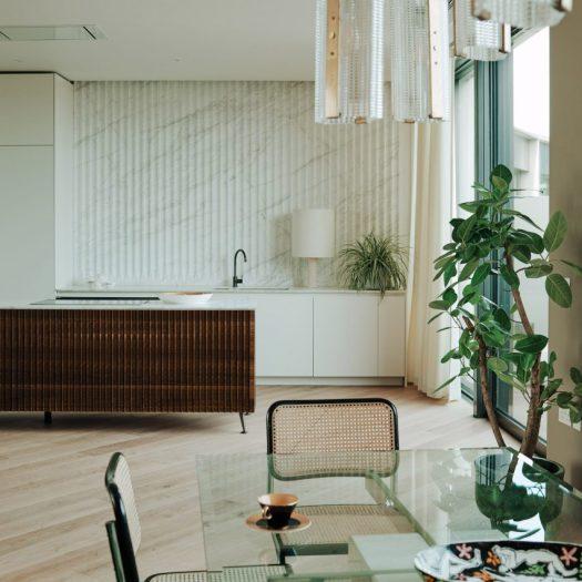 Bella Freud and Maria Speake fashion retro interiors for BBC TV centre apartment