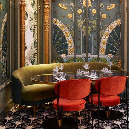 Interiors of Beefbar restaurant in Paris, designed by Humbert & Poyet