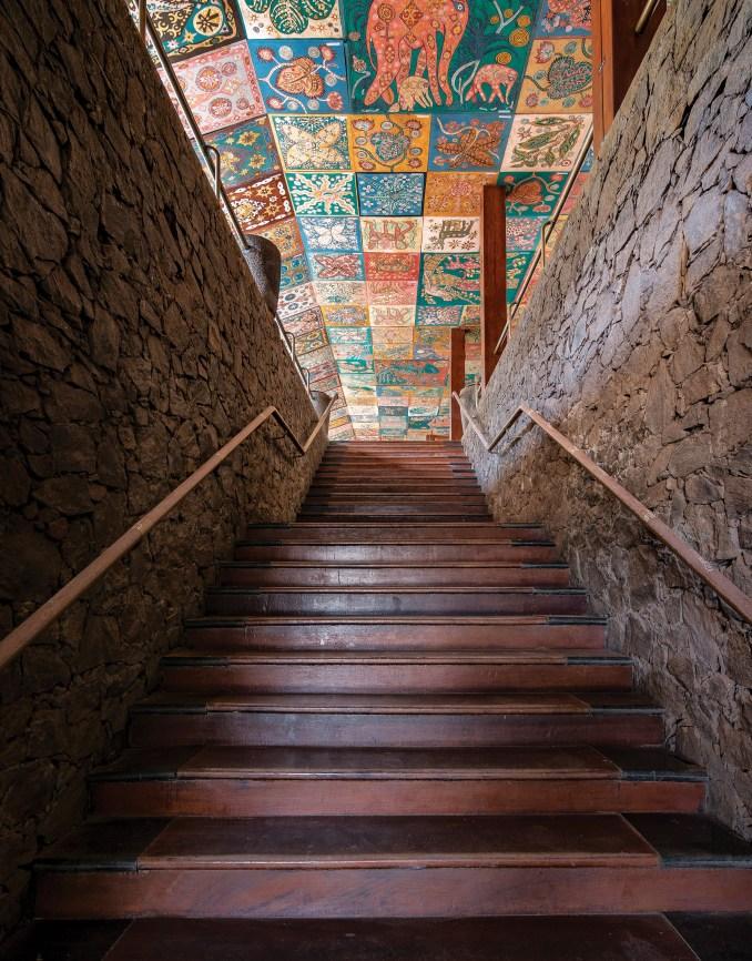 Geoffrey Bawa staircases: The Beach Hotel, Bentota, 1968