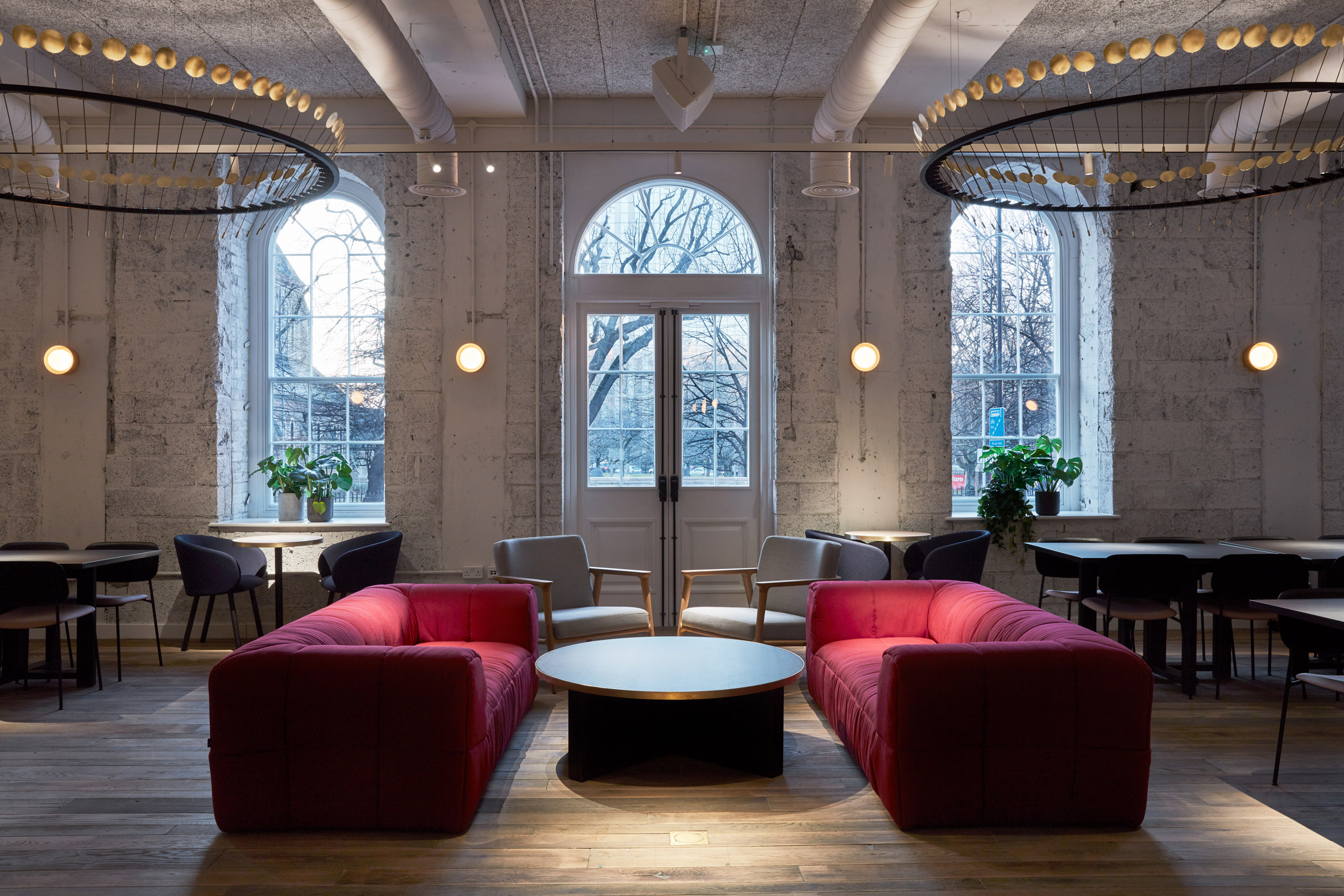 Interiors of Kindred co-working space, designed by Studioshaw