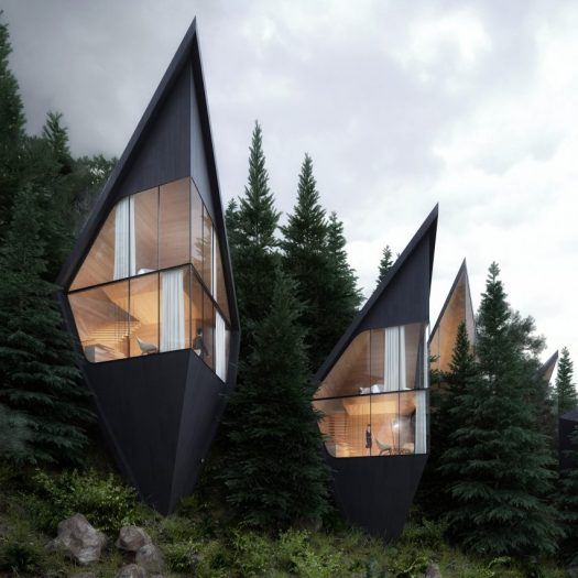 Tree houses by Peter Pichler