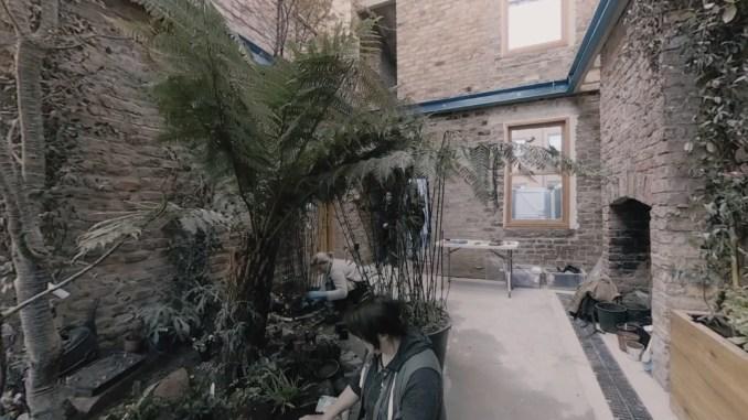 Still from Granby Winter Garden's 360-degree film