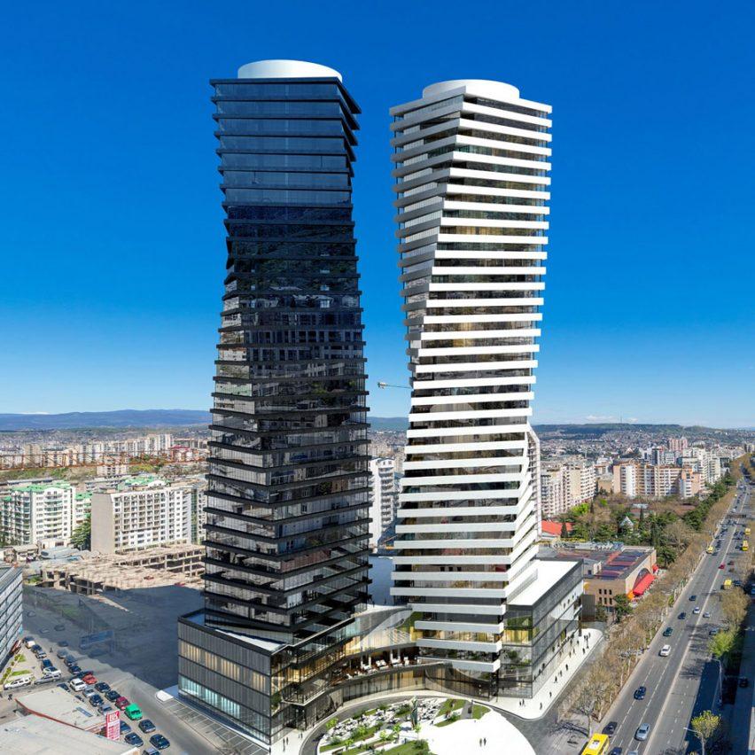 Axis Towers in Tbilisi, Georgia