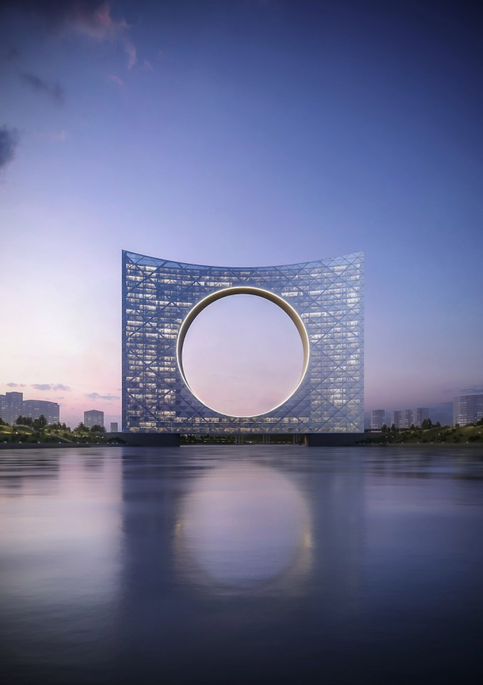 Tower of the Sun by Fundamental Architects and Omega Render in Astana, Kazakhstan