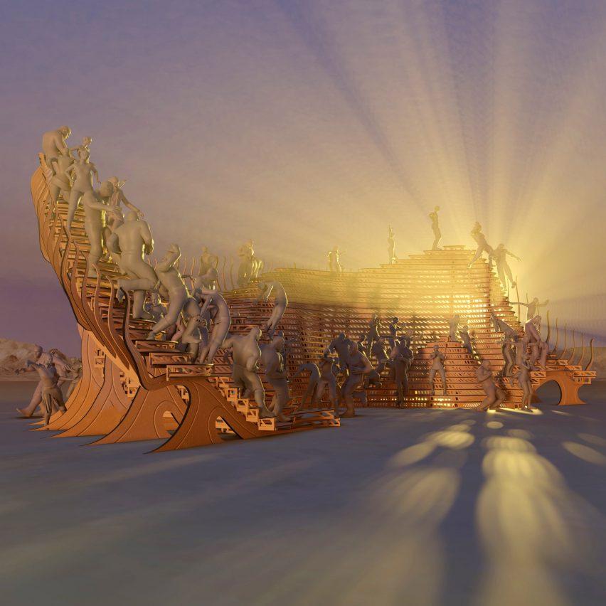 Playascape Burning Man festival pavilion by Atmos Studio