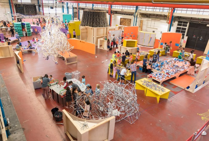 Mega Maker Lab for the Institute of Imagination by Matt+Fiona
