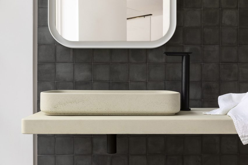 petra bathroom collection is made from