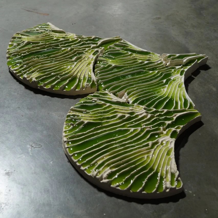 Algae tiles Indus by Bio-ID Lab at the London Design Festival 2019