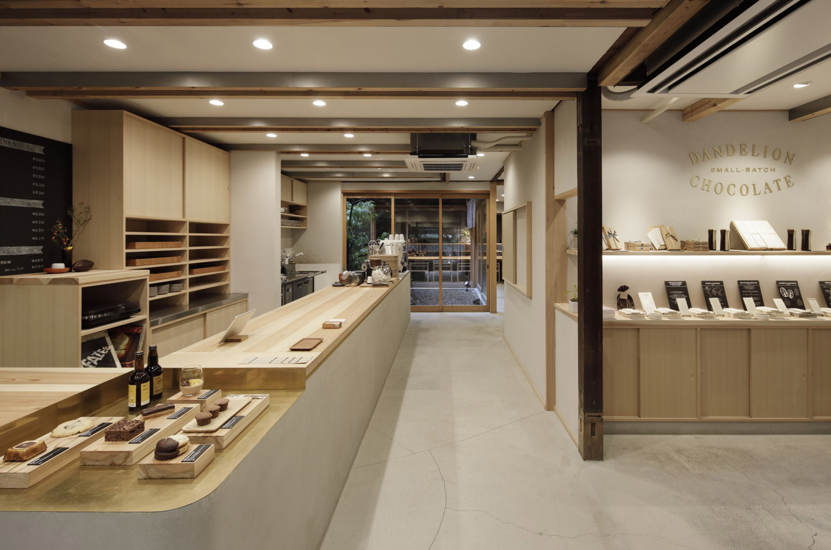 Dandelion Chocolate, Kyoto, designed by Fumihiko Sano Studio