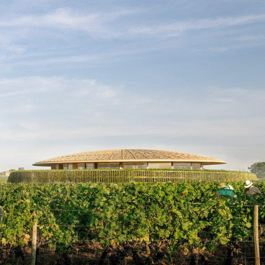 Le Dôme winery designed by Foster + Partners for Saint-Émilion, France