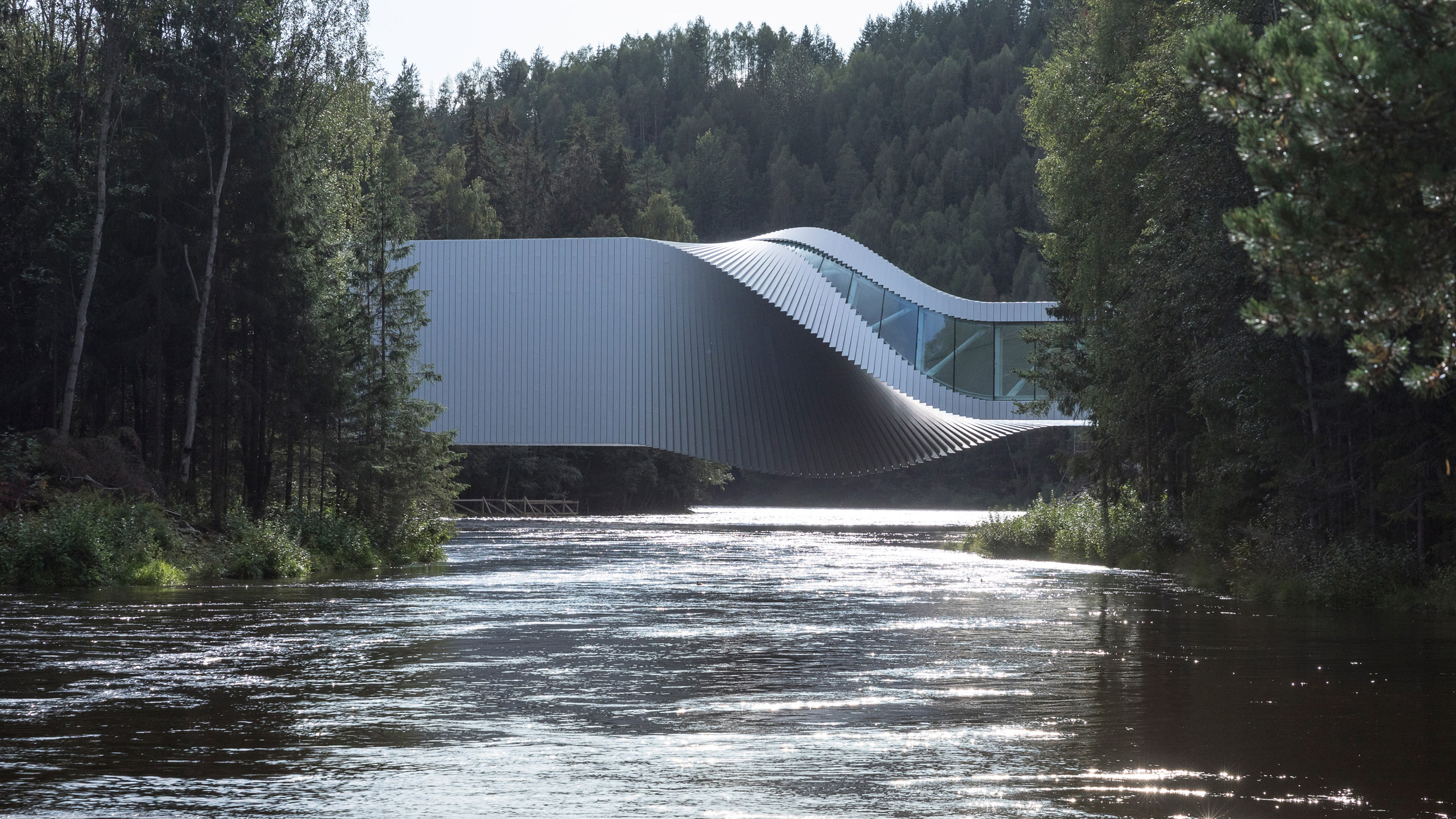 The Twist art gallery at Kistefos sculpture park in Norway, by BIG