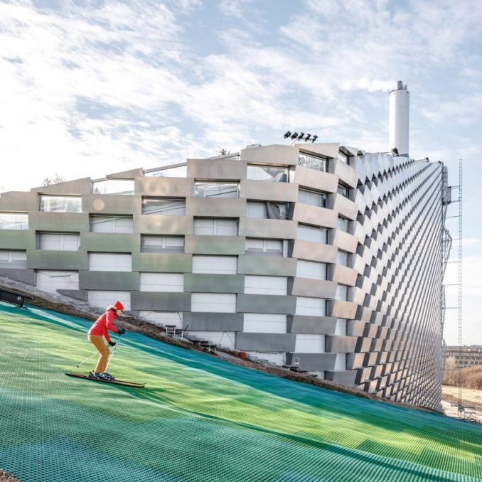 Copenhill waste-to-energy plant and ski slope by BIG in Copenhagen, Denmark