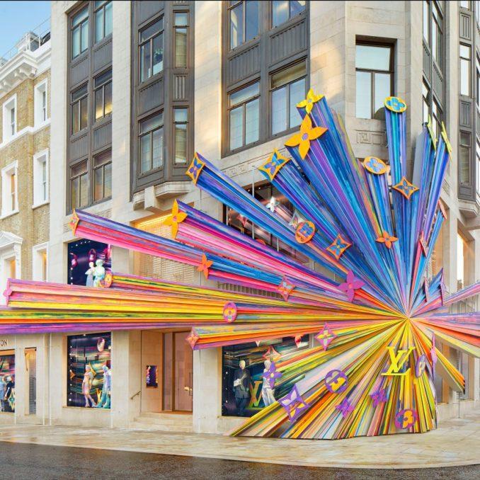 Louis Vuitton store on London's New Bond Street, designed by Peter Marino