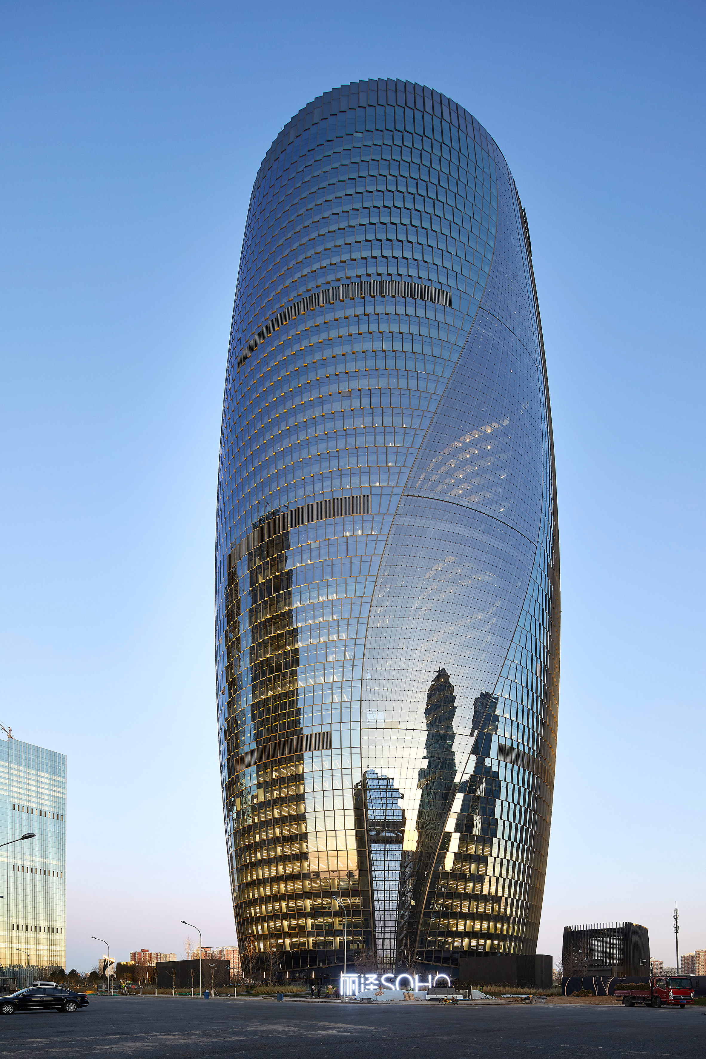 Leeza Soho skyscraper in Beijing by Zaha Hadid Architects