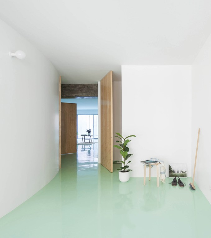 Apartment on a Mint Floor by Fala Atelier bedroom