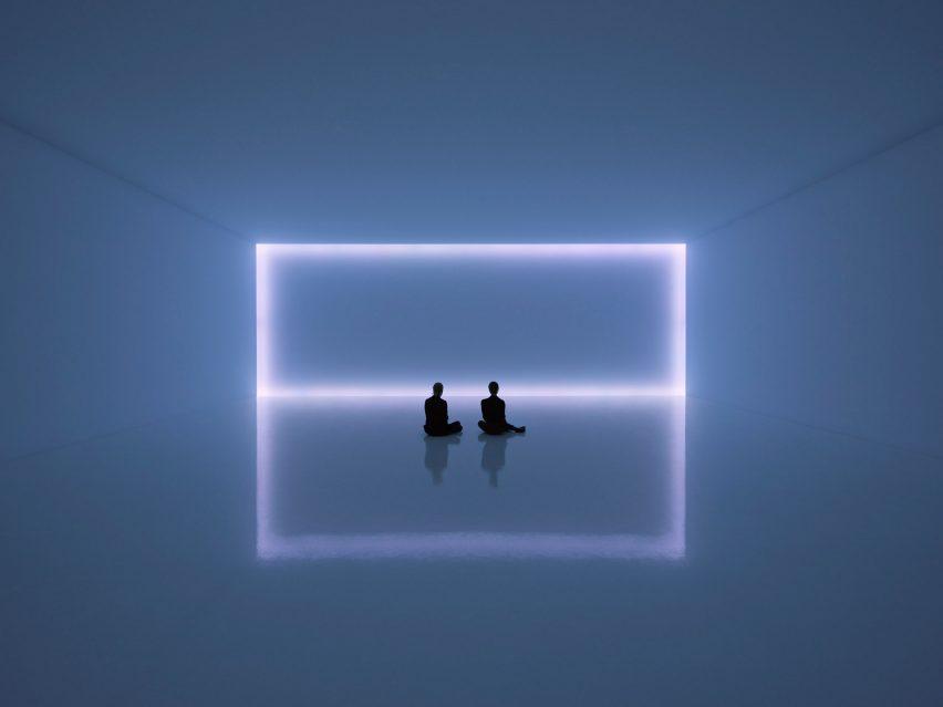 UV Neon Light Art Installation Minimalistic