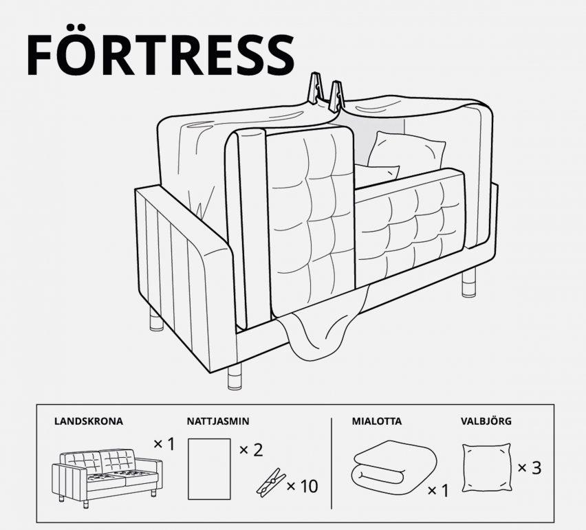ikea designs forts for children in lockdown