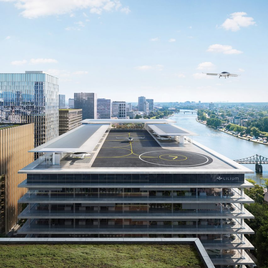 Urban vertiports by flying taxi startup Lilium