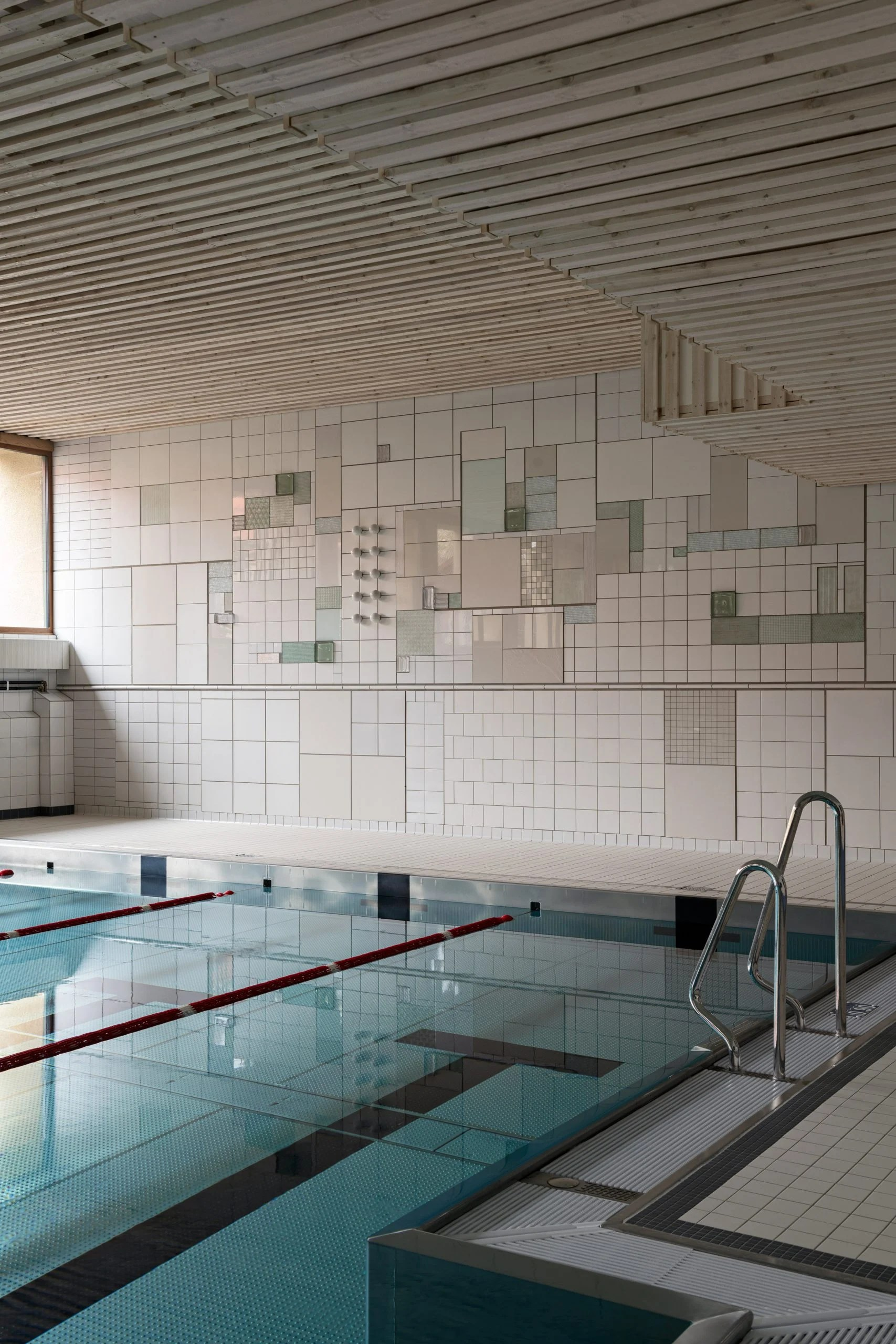 Swimming pool mural by Folkform