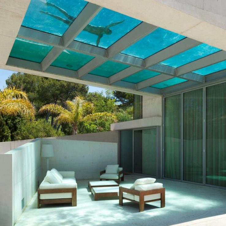 Piscines architecturales: Jellyfish House, Espagne, par Wiel Arets Architects