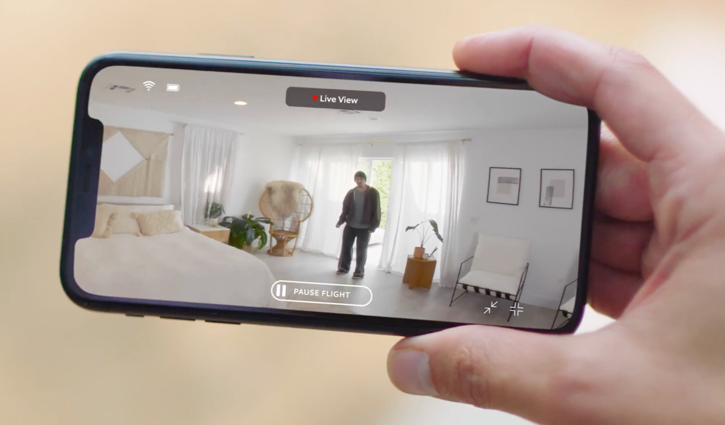 Amazon's Ring Always Home Cam connects to smartphones so users can watch live footage remotely