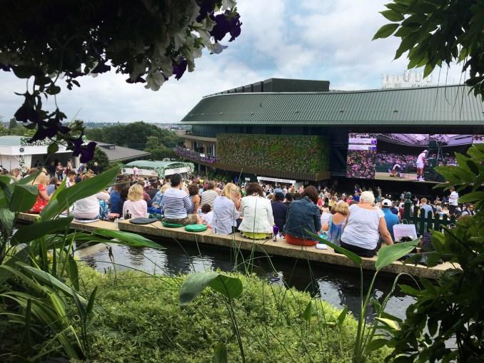 Green wall at Wimbledon's No. 1 Court