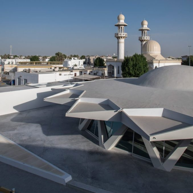 Brutalist Flying Saucer in Sharjah by SpaceContinuum Design Studio for Sharjah Art Foundation