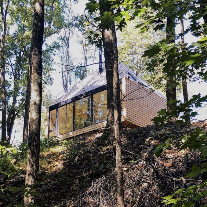 The exterior of The Hut, an off-grid house by Midland Architecture