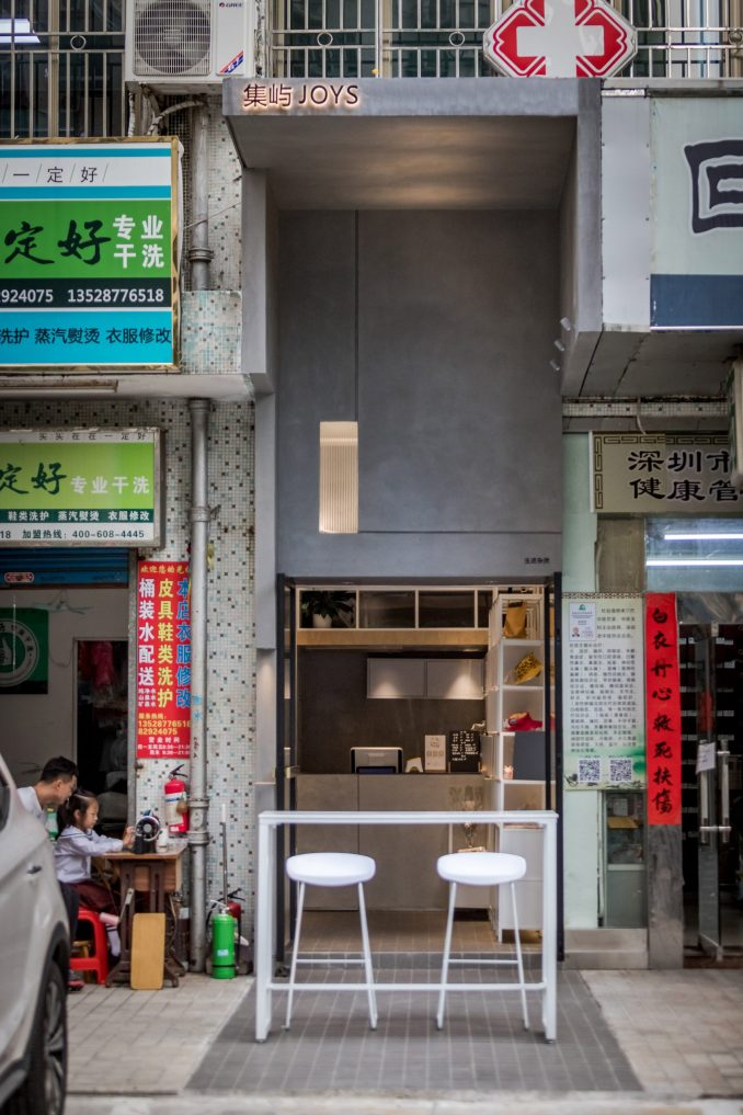 Microcafe joys by Onexn in narrow gap in Shenzhen