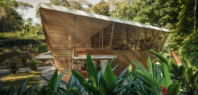 No Footprint House is a prototype prefabricated home in Costa Rica