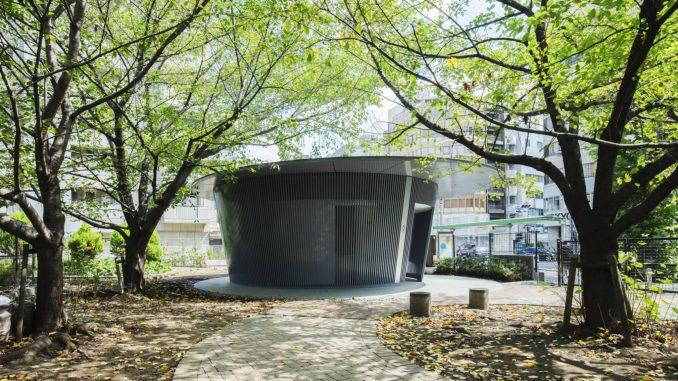 Circular public toilet by Tadao Ando