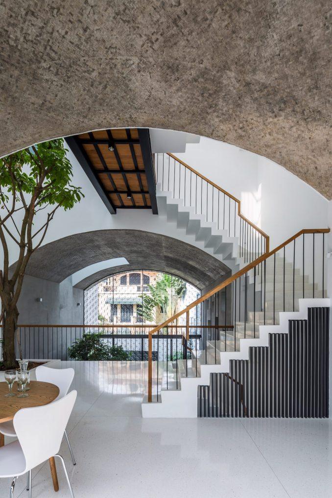 First floor of Vom House in Vietnam by Sanuki Daisuke Architects