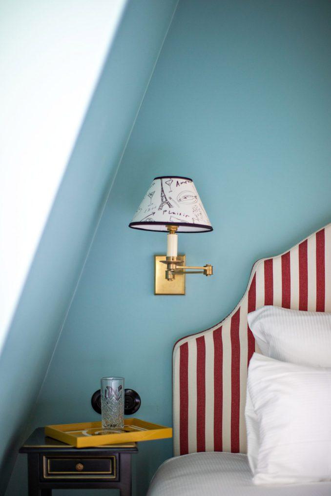 Bedrooms inside Hotel Les Deux Gares in Paris