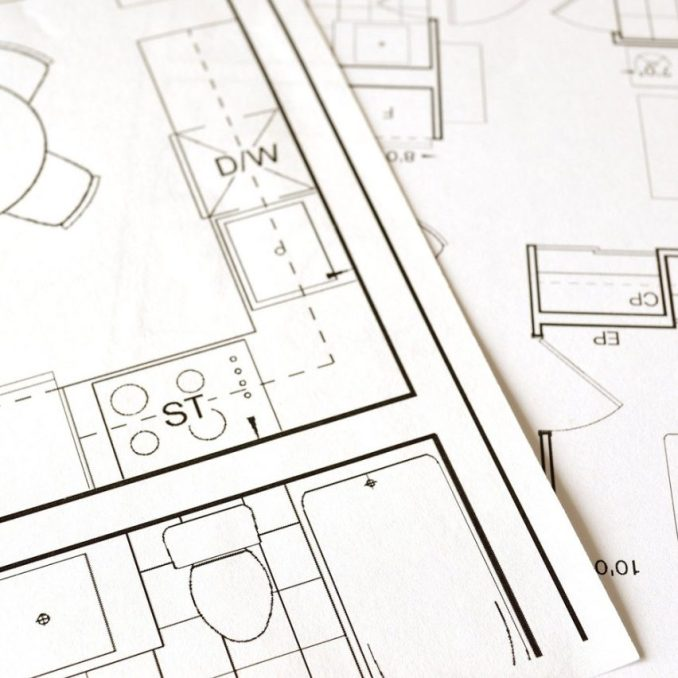 Building plans to illustrate news of minimum space standards for permitted development homes in England