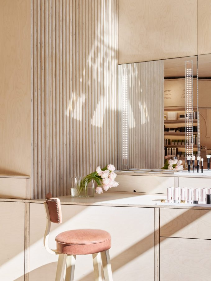 Shen beauty store features plywood interiors