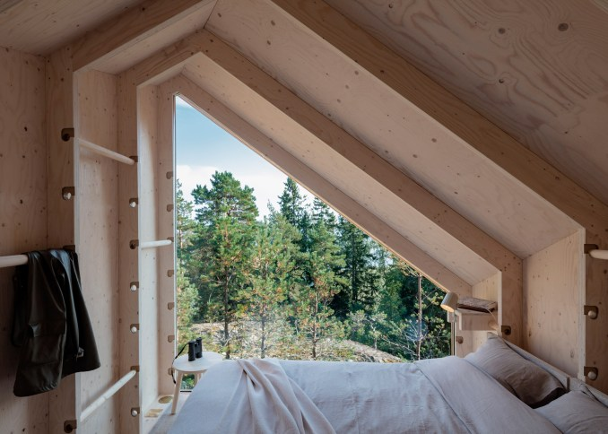 Inside the modular Space of Mind cabin prototype by Studio Puisto