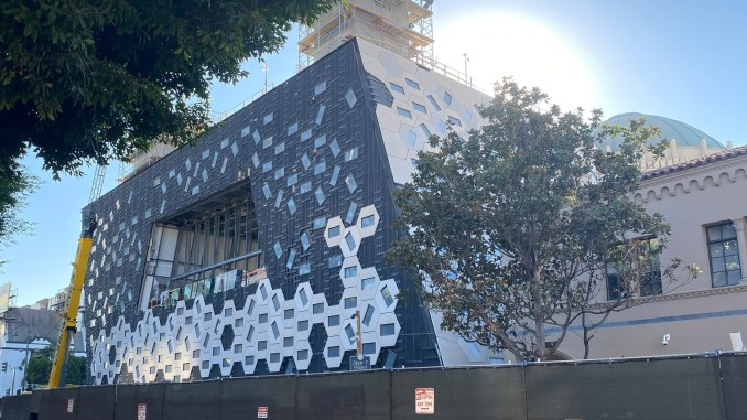 Audrey Irmas Pavilion by OMA under construction