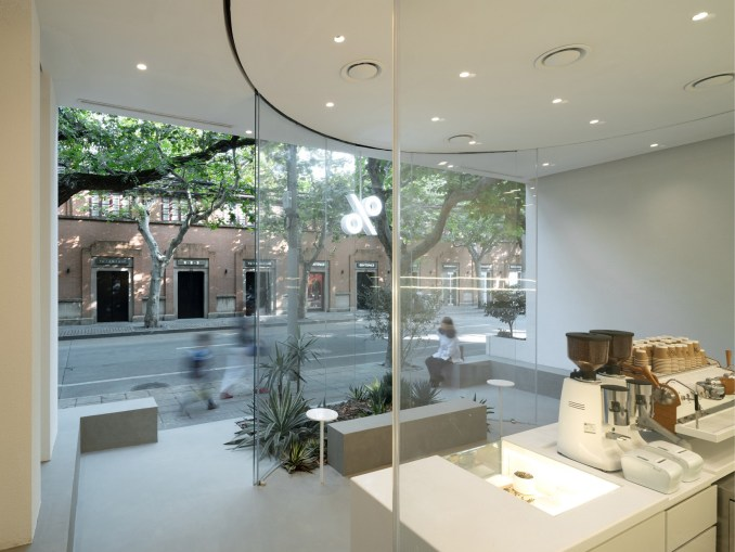 Interior of % Arabica West by BLUE Architecture studio