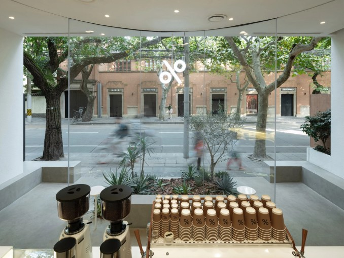 View out from % Arabica West by BLUE Architecture studio