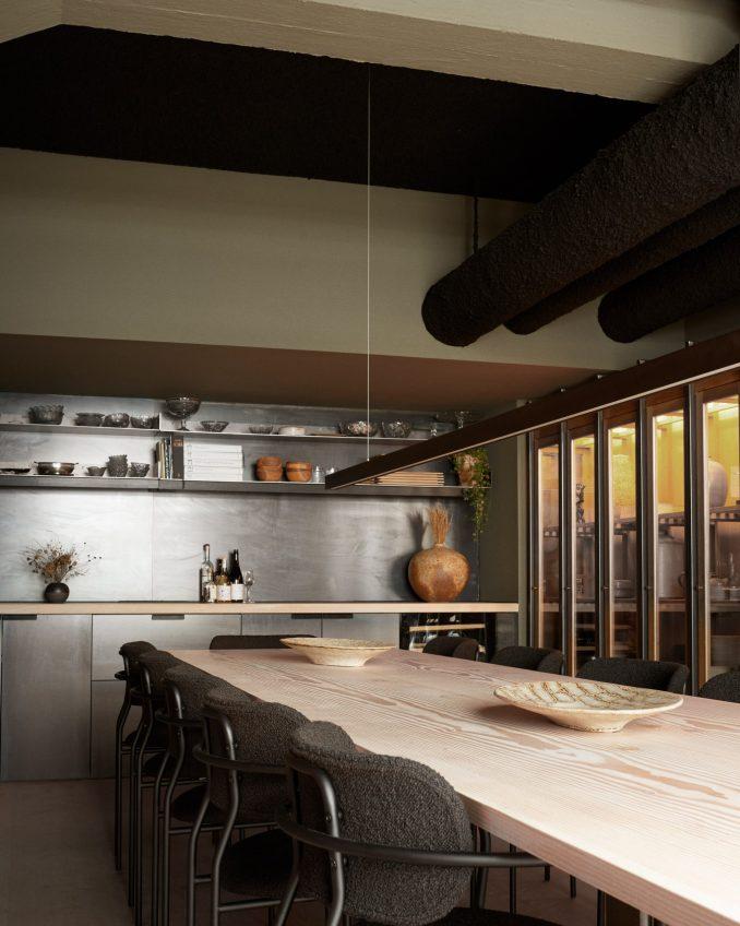 Private dining room of Kadeau in Copenhagen