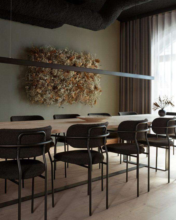 Private dining room in Kadeau Copenhagen by OEO Studio
