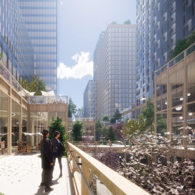 A terrace in Henning Larsen's Seoul Valley proposal for South Korea