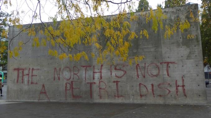 Tadao Ando-designed wall in Manchester