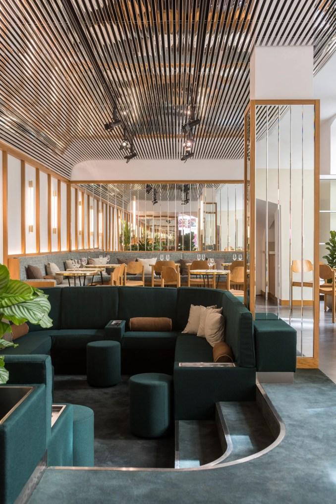 The Bureau co-working space in Paris includes conversation pit