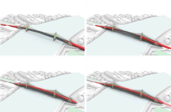 Plans for Foster + Partners Hammersmith Bridge concept