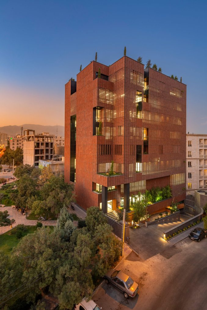 Exterior of Sharif Office Building by Hooba Design Group