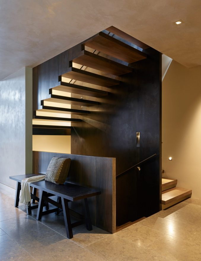 Stairs of house in Washington by Graham Baba Architects