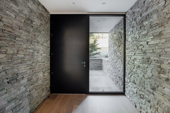 Front door of Meadows Haus Utah Klima Architecture