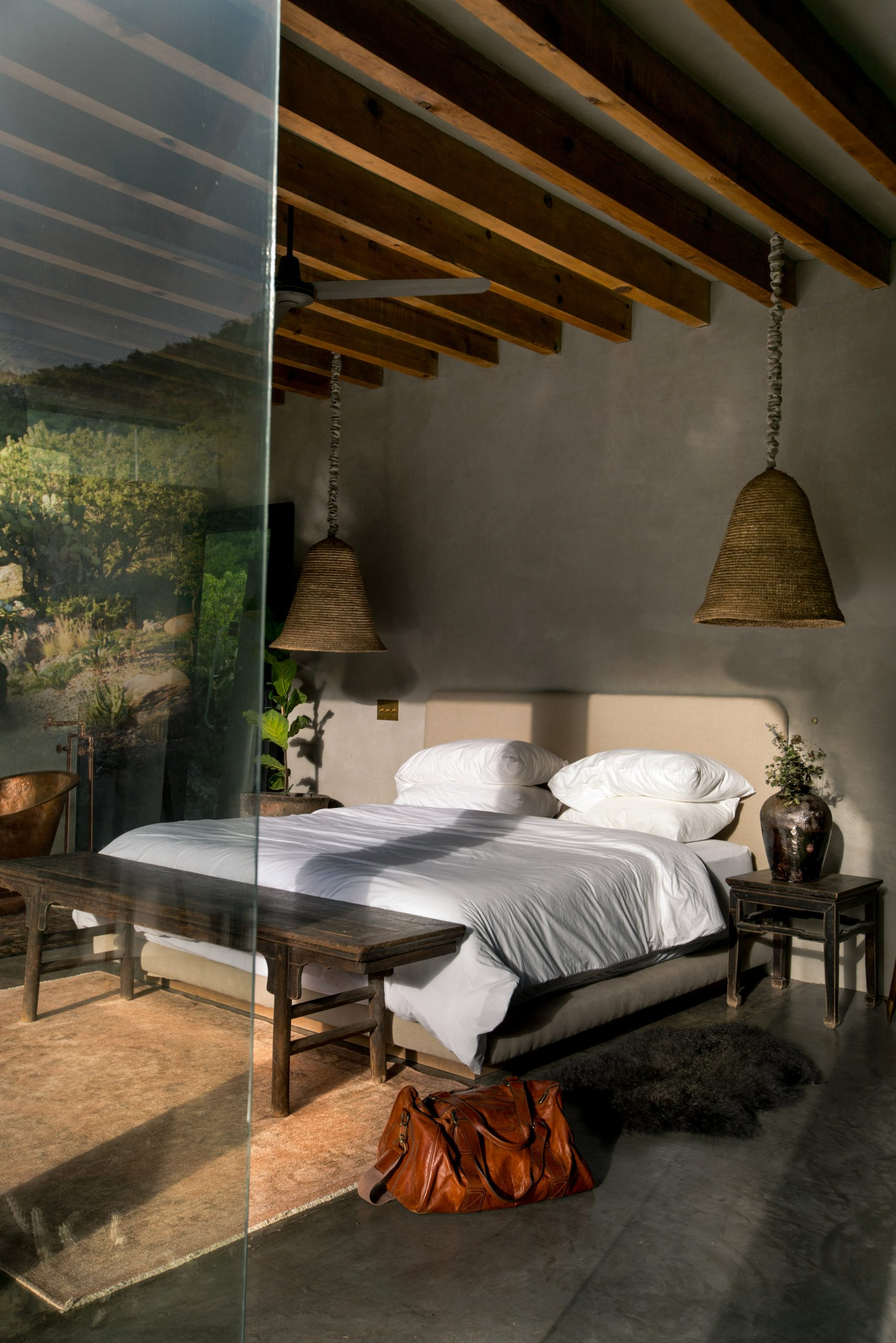 Bedroom of mirrored cabin by Prashant Ashoka
